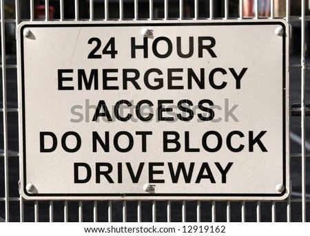 24 Hour emergency Access