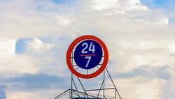 24 hour work. Schedule, sign 24/7 twenty four on seven online