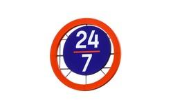 24 hour work. Schedule, sign 24/7 twenty four on seven online. Isolaited