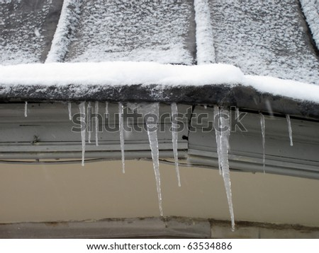 house covered with snow in winter time