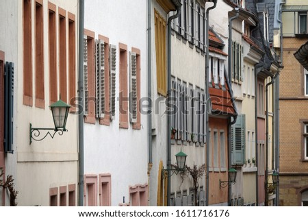 House facades in Heidelberg, germany