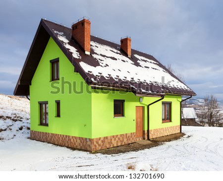 House in winter scenery