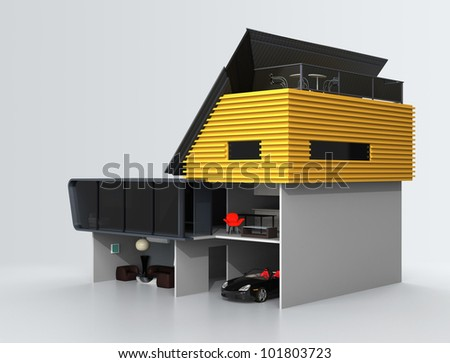 house with an extreme slope roof