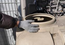 Housing equipment in Japan deteriorated water tank
