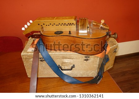 hurdy-gurdy or old string instrument or   medieval string instrument                  #1310362141
