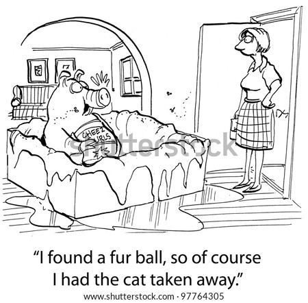 """""""I found a fur ball, so of course I had the cat taken away."""""""