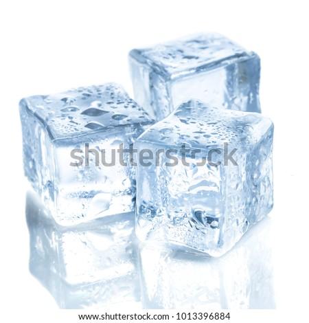 ice cubes on white background #1013396884