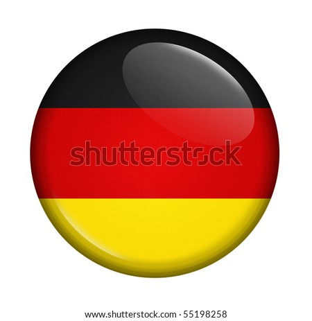 icon with flag of Germany isolated on white background - stock photo