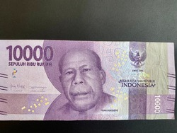 10,000 IDR (Indonesian Rupiah), isolated on black background