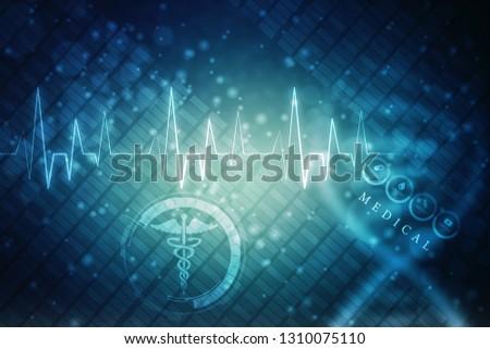 illustration Health care and medical logo