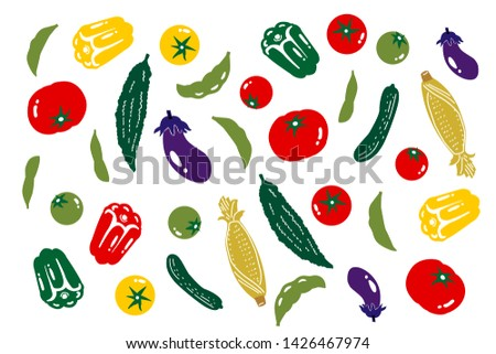 Illustration of random delicious vegetables #1426467974