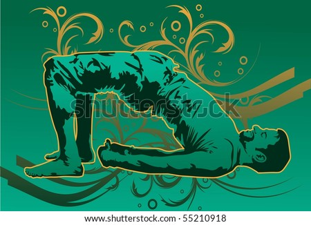 Image of a man who is performing a yoga move.
