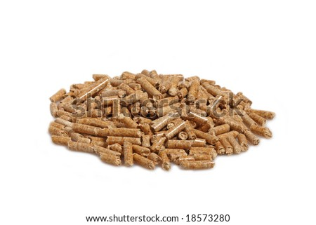 image of alternative biological energy, wood pellet