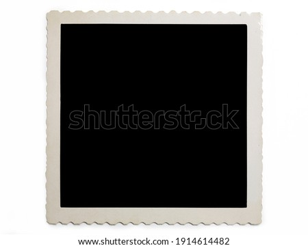 Image of old blank photo with shadow on white background Сток-фото ©