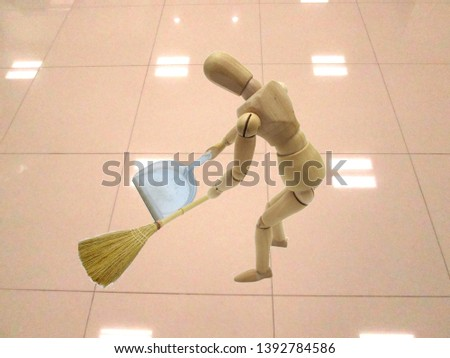 Image to clean the floor clean #1392784586