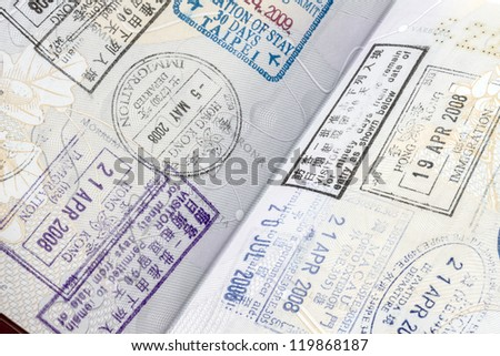 immigration arrival stamps on passport