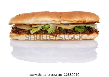 12 inch grilled Philly cheese steak