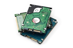 2.5 inch harddisk drives (HDD) on the white background.