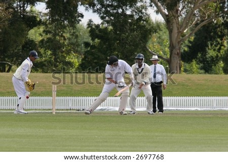 "India v New Zealand U 19 Cricket: ""Dean Bartlet of NZ bowled for a duck by Indian Bowler Yo Mahesh in Lincoln, New Zealand"" 3 Feb 07"
