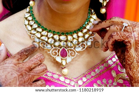 Indian bridal sangeet necklace choker #1180218919