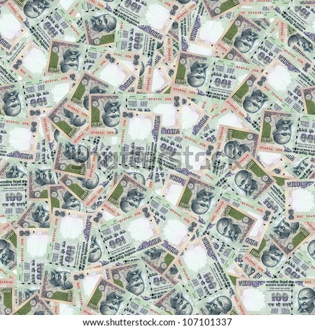 100 Indian rupees high resolution seamless texture/Indian money seamless texture