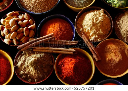 Indian spices are seen here. #525757201