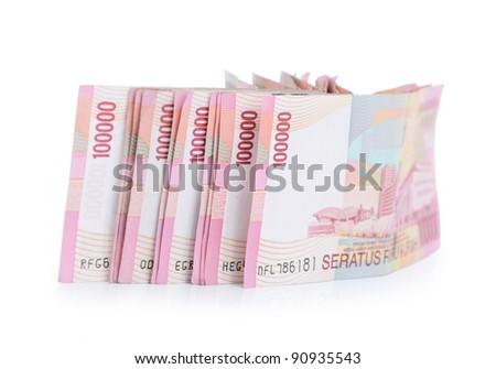 Indonesia money isolated on white background