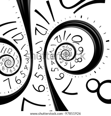 infinity time spiral clock background