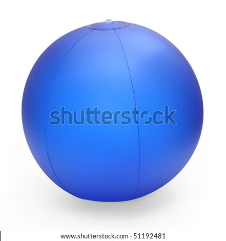 inflatable beach ball isolated on white with clipping path
