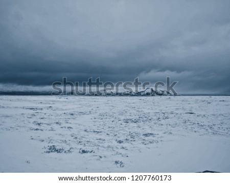 Þingvellir an Icelandic winter wonderland #1207760173