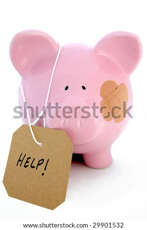 'Injured' piggy bank seeks bail out