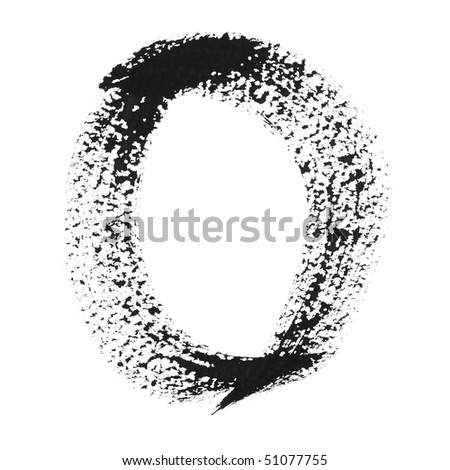 0 - Ink numbers isolated over the white background