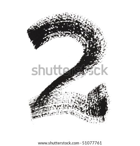 2 - Ink numbers isolated over the white background