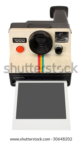 instant camera, with clipping path