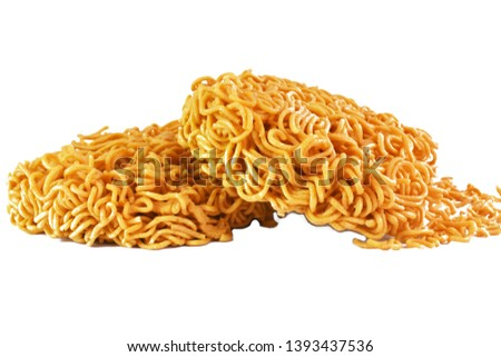 Instant noodle,2 instant noodles,Instant noodles in a white background