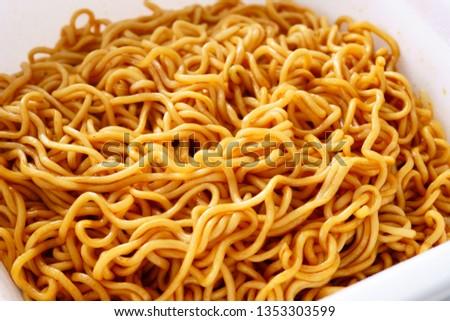 Instant noodles. Instant yakisoba.