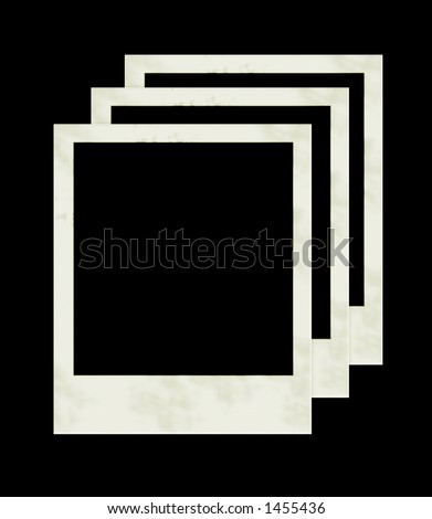 3 instant photos for designs and framing - stock photo