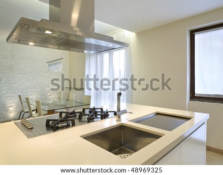 interior beautiful house - stock photo