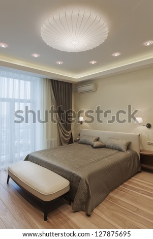Interior design series of nice cozy bedroom