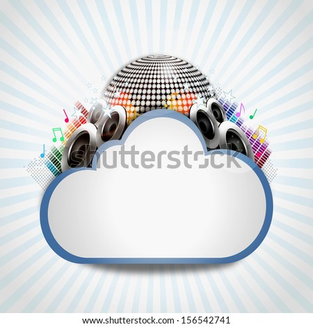 Internet cloud with music sharing