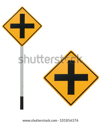 4 intersection traffic sign