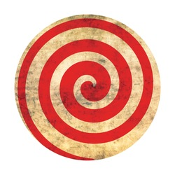Сircle with a spiral. Circus round element.