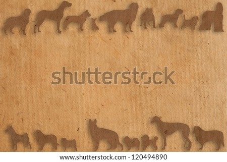 isolate dog paper texture style