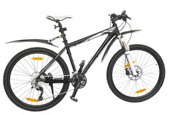 isolated black-and-white bicycle on a white background