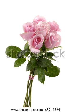 isolated bouquet of roses
