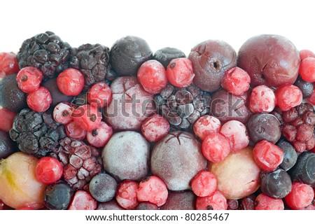 isolated frozen fruit