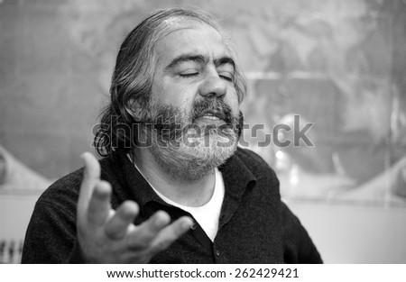 ISTANBUL, TURKEY - MARCH 29: Profesor,Writer Mehmet Altan  portrait on March  29, 2005 in Istanbul, Turkey.