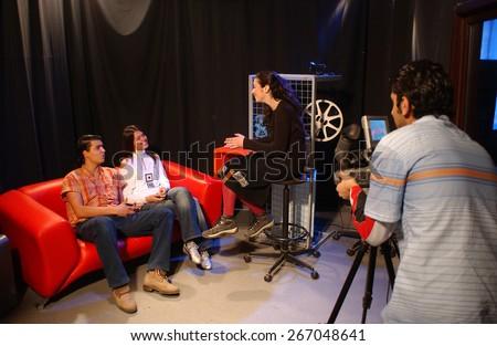 ISTANBUL, TURKEY- NOV 22: Broadcasting course on November 22, 2006 in Istanbul,Turkey