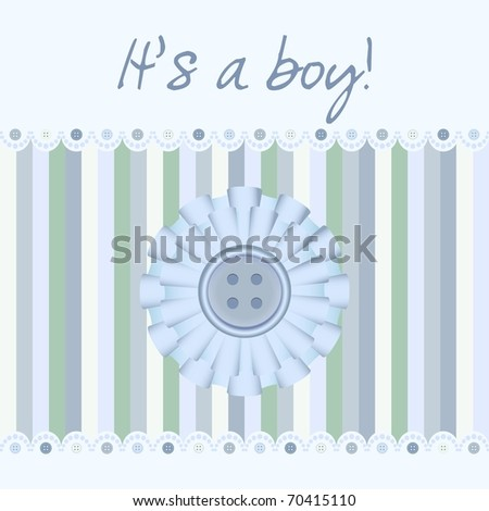 """It's a boy!"" baby card announcement"