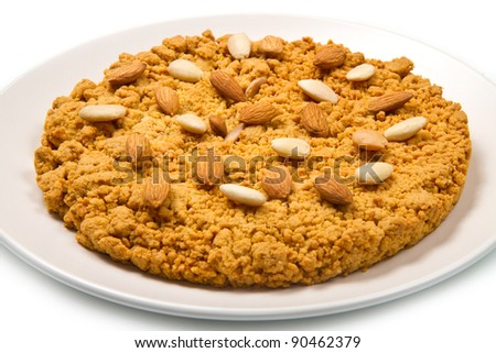 italian cake with almonds